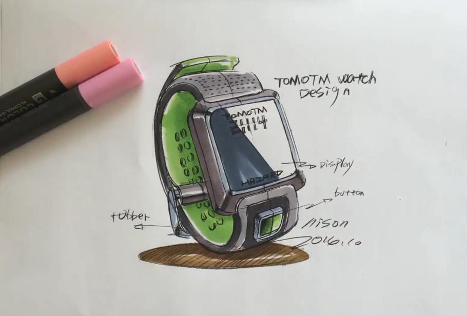 手绘工业品运动手表