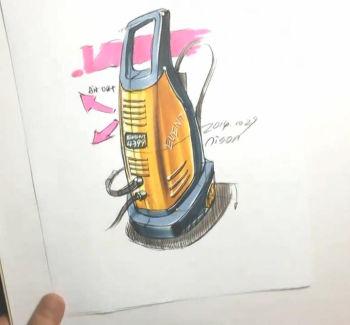工业品手绘充电机