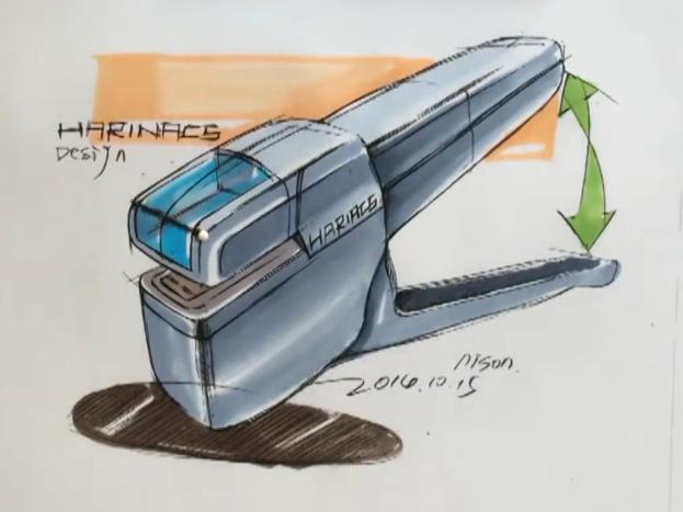工业品手绘订书机
