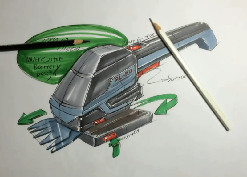 工业品手绘剪草器